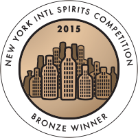 New York International Spirits Competition Bronze Winner 2015