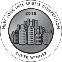 New York International Spirits Competition Silver Winner 2015