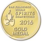 San Francisco World Spirits Competition 2016 Gold Medal