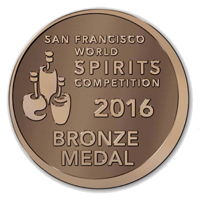 San Francisco World Spirits Competition 2016 Bronze Medal