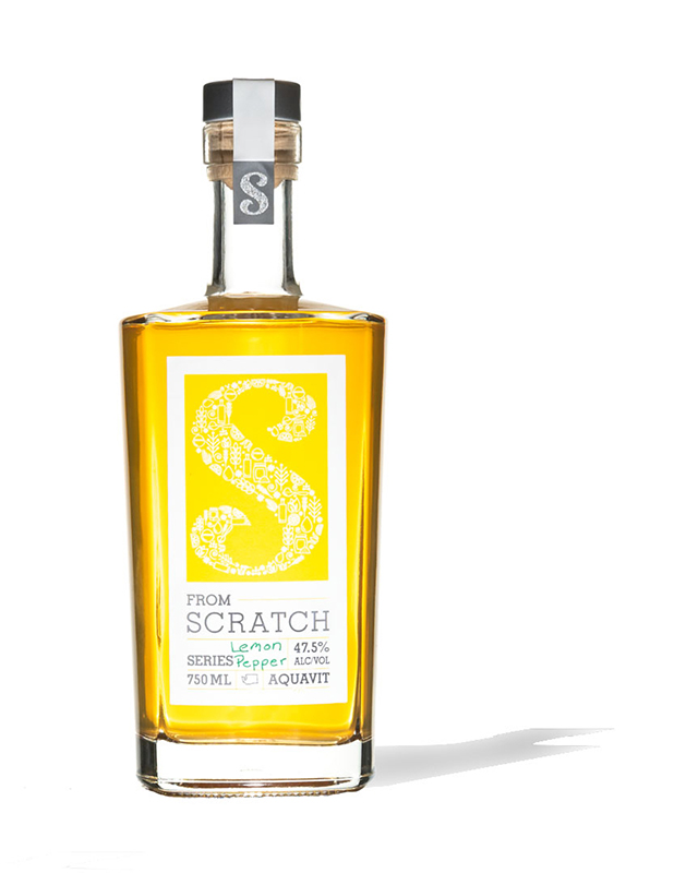 Scratch Lemon Pepper Aquavit